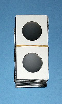 One Hundred (100) Half Dollar Size 2X2 Cardboard/Mylar Coin Holders Flips