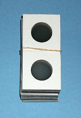 One Hundred (100) Small Dollar Size 2X2 Cardboard/Mylar Coin Holders Flips