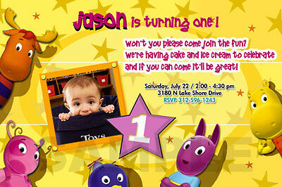 THE BACKYARDIGANS BIRTHDAY PARTY INVITATION PHOTO invite first 1ST -12 DESIGNS