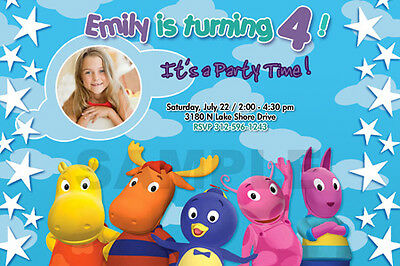 THE BACKYARDIGANS BIRTHDAY PARTY INVITATION PHOTO CUSTOM invite 1ST -12 DESIGNS