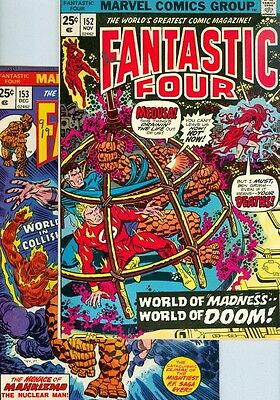 Fantastic Four #152 and #153 F/VF