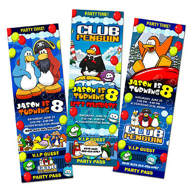 Monster jam truck birthday party invitation invite 1st grave digger club penguin puffles birthday party invitation ticket 1st custom invite c1 filmwisefo