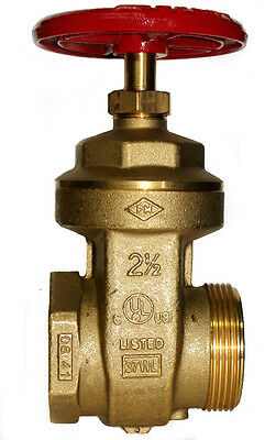 "2-1/2"" HOSE/HYDRANT GATE VALVE -Female NPT x  Male NST - for Pump Test Manifolds"