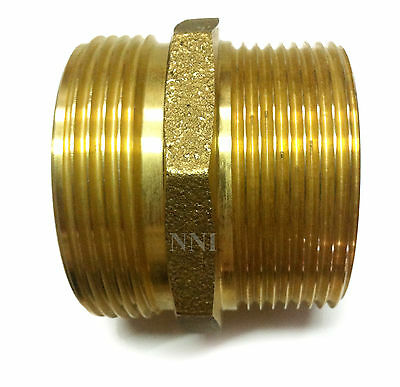 "NNI 2-1/2"" MALE NPT - MIPT x 2-1/2"" MALE NH NST FIRE HYDRANT ADAPTER HSR-A2525MM"