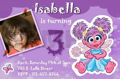 ELMO SESAME STREET BIRTHDAY PARTY INVITATION PHOTO 1ST C8 - abby cadabby custom