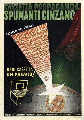 Cinzano Spumante-Elenco Premi-N.edel-1938-Advertising-Pubblicita'