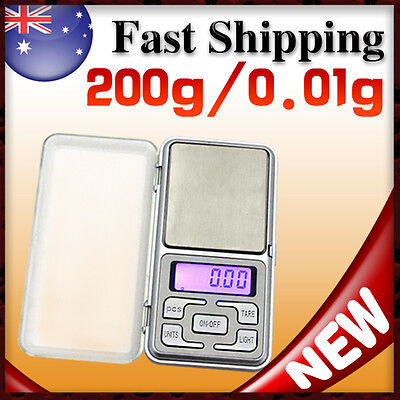 200g/0.01g Electronic Precision Portable Pocket Digital Scale balance weighing