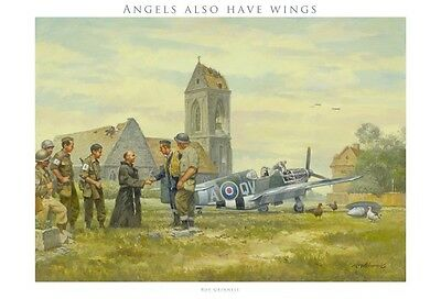 """""""Angels also have wings"""" by Roy Grinnell (P-51 Mustang)"""
