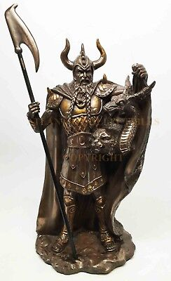Norse Pagan God Trickster Shapshifter Loki Brother of Thor Figurine Statue 11.5""