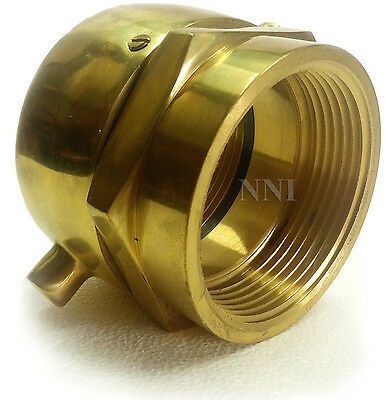 "FIRE HYDRANT SWIVEL ADAPTER (OPEN SNOOT) 2-1/2"" (F)NST x (F)NPT Polished Brass"