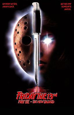 FRIDAY THE 13TH PART VII 7 THE NEW BLOOD Movie Poster Horror