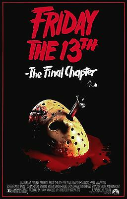 FRIDAY THE 13TH THE FINAL CHAPTER IV 4 Movie Poster Horror Jason Voorhees