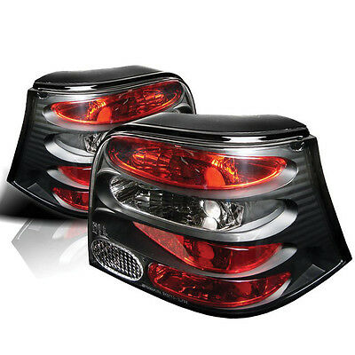 Vw Golf Mk4 98-04 Black Lexus Rear Tail Lights Lamps Pair New