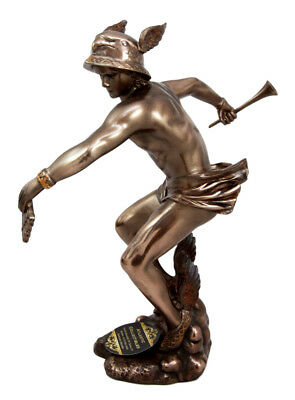 "9"" Height Greek God of Messenger Thieves Hermes Mercury Statue Figurine"
