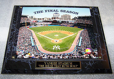 """YANKEE STADIUM """"OLD"""" THE FINAL SEASON 1923-2008 PLAQUE FREE INSURANCE 2 DAY MAIL"""