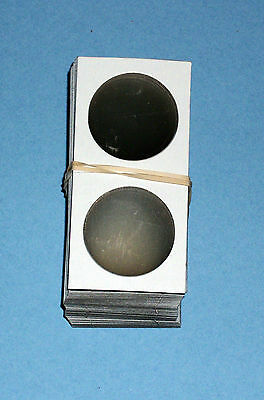 One Hundred (100) Half Dollar Size 1.5X1.5 Cardboard/Mylar Coin Holders Flips