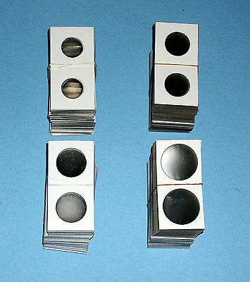 One Hundred (100) Assorted Sizes 1.5X1.5 Cardboard Coin Holders Flips - You Pick