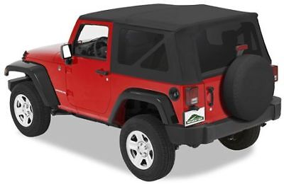 Pavement Ends by Bestop 51131-35 Black Diamond Replay Replacement Soft Top Clear Windows w//Upper Door Skins for 1997-2006 Jeep Wrangler
