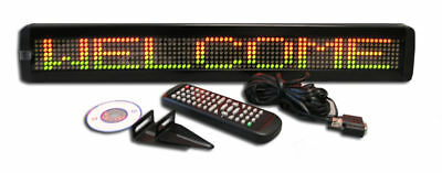 "New! Color LED Programmable Scrolling Message Display Sign 26""x4"" FREE SHIPPING!"