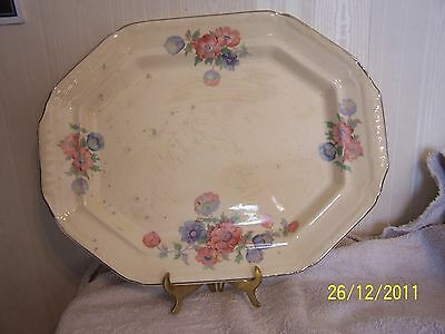 1pc Vantage Meat Plate, Old Dash VITREOUS EDWIN M KNOWLES China Co, Great Condi
