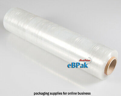 2x 500mm x 450m Meter Clear Hand Stretch Film for Pallet & Carton Shrink Wrap