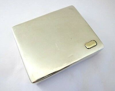 Antique Sterling Silver Cigarette Box/Case with Gold .4.01 TOZ