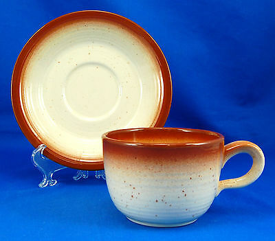 Franciscan COUNTRY CRAFT - RUSSET BROWN Flat Cup and Saucer Set 2.625 in. Brown