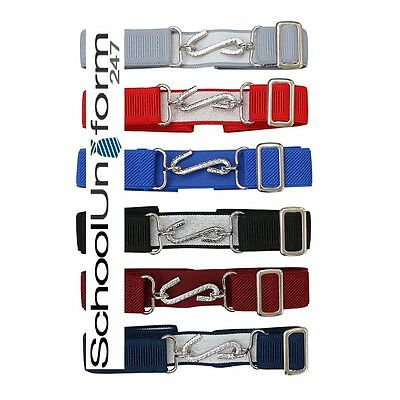 Kids Boys Girls Adjustable Snake Belt Ages 1-10 Elasticated Coloured Belt
