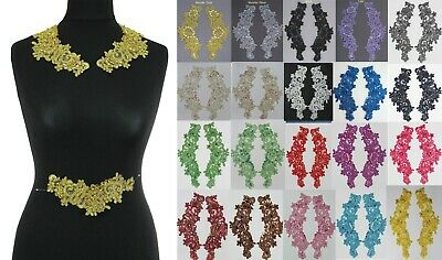 2 Pieces  Extra Large Sequins & Beads Trim Motifs #3