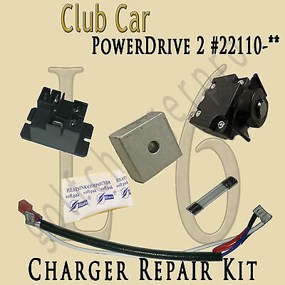 CLUB CAR Golf Cart POWERDRIVE 2 Charger Repair Kit MODEL # 22110 LEVEL 6