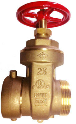 "2½"" HOSE - HYDRANT GATE VALVE - 300Psi, Female Swivel NST x  Male NST - UL/FM"