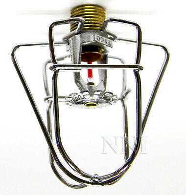"Fire Sprinkler Headguard - Cage1Pc 2 Hook Chrome 1/2"" IPS"