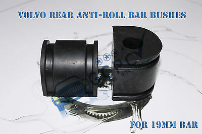 VOLVO REAR ANTI ROLL BAR BUSHES x2 for S80, S60 , V70 , XC70 etc. 19mm