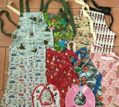 Harrods Unisex Child PVC or Cotton Aprons or Bibs BNWT many designs