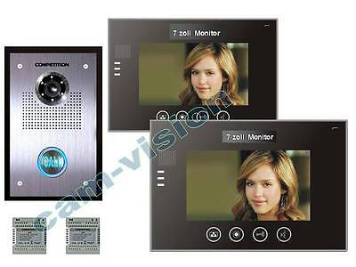 "NEU!!1-Fam.VIDEO TÜRSPRECHANLAGE/16-KLINGELTÖNE/7""TOUCH-MONITORE/110°SONY KAMERA"