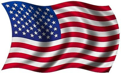 United States Wavy Flag Sticker USA American US America bumper decal Choose Size