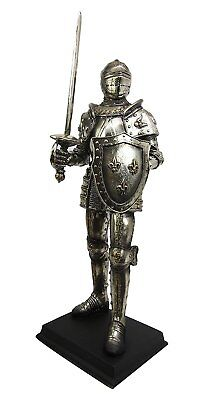 "Large Medieval Knight of Valor Suit of Armor Elite Statue 16"" Tall Figurine"