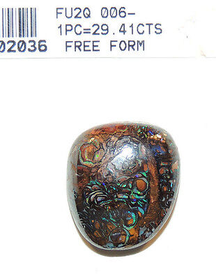 Boulder Opal 22x19mm with 8mm dome Free Form  Australian 29.41cts (1585)