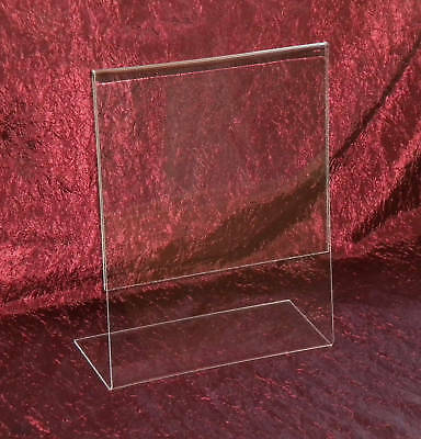 """Slanted Acrylic 8.5"""" x 11"""" Sign Holder / Picture Frame"""
