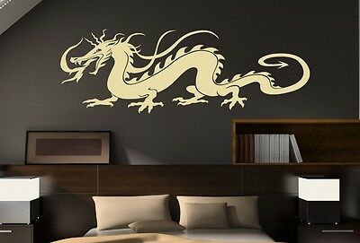Traditional Chinese Dragon Wall Stickers Large Vinyl Decal 180cm wide FREE P&P