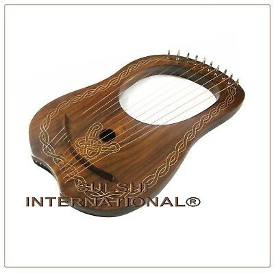 Si - New Rose Wood Lyre Harp - 10 Strings