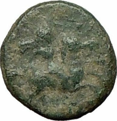 DARDANOS in TROAS 350BC Male Horse Rider & Cock Ancient Greek Coin  i26096