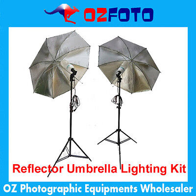 Professional Photography Reflector Umbrella Lighting Stand Kit