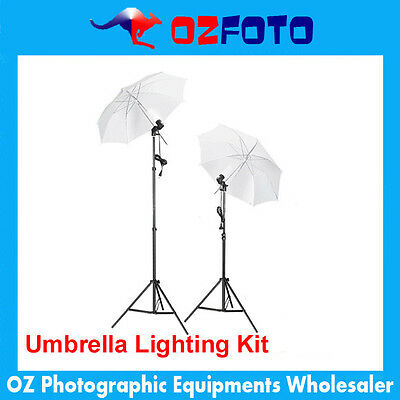 Professional Photography Video Umbrella Studio Lighting Stand Kit New!