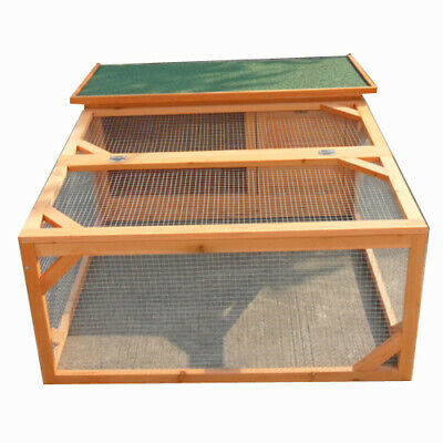 Rabbit Hutch Large One Storey Guinea Pig House Chicken Coop Cage Ferret Run P017