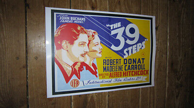 The 39 Steps Alfred Hitchcock Repro Film POSTER