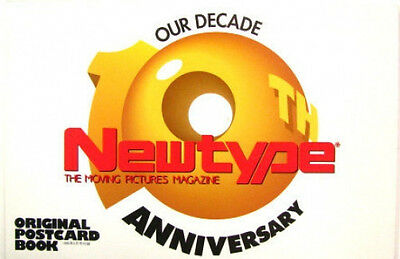 Newtype 10th Anniversary 1995 Postcard Book/Gundam Fix/Slayers/Four Murusame