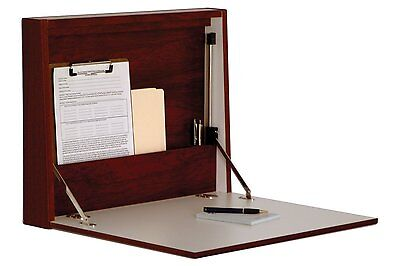 Wooden Mallet Wall Desk Laptop Workstation In Mahogany Finish WD17-21MH New