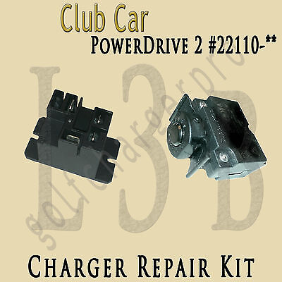 CLUB CAR Charger POWERDRIVE 1 & 2 Kit Model 17930 22110 Relay Circuit Breaker