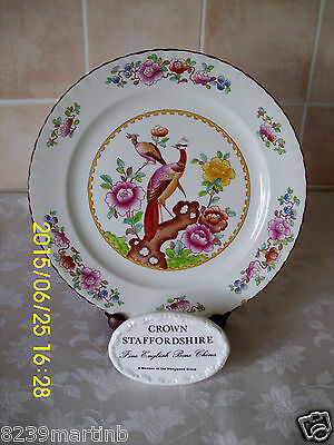 Crown Pottery Stafordshire Old Chelsea Pattern Dinner Plate Chip To The Rim